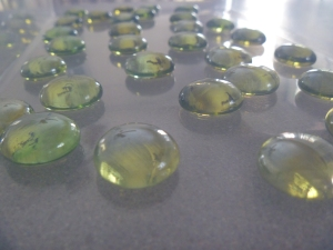 Gold gems served as our gold pieces.