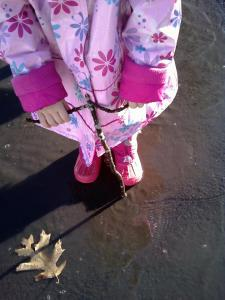 The perfect day for puddle jumping!