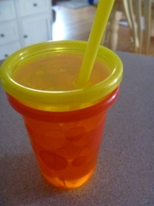 Glowing sippy cup