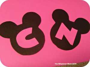 If you did not print on card stock use printed ears as template on actual card stock