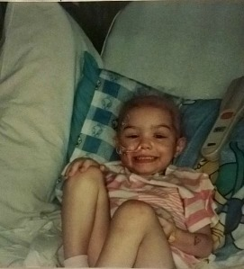 My niece Ashley Christine- even a feeding tube couldn't stop her from smiling.