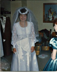 Aunt Christine on her wedding day.