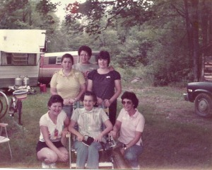All my aunts and grandma. Christine- front right and my grandma both died from cancer.
