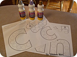Print out dot paint ABC's and let kids paint