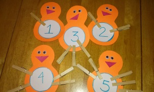 Clothespins are great for working developing fine motor skills.