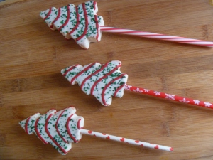 Use lollipop sticks, or paper straws.
