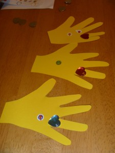 Allow child to trace their own hands and decorate!