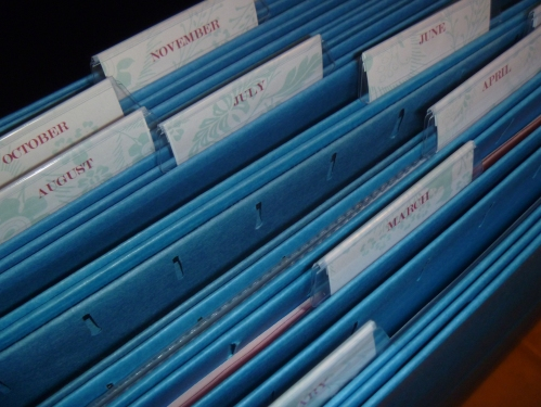 Use hanging file folders to store additional papers, or projects.