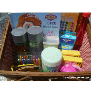 Road Trip Activity Basket