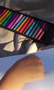 Using pastels outside