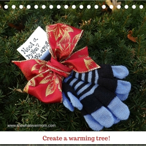Kids will love creating a warming tree!