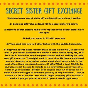 Secret Sister Gift Exchange
