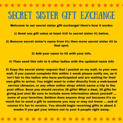 Secret Sister Gift Exchange
