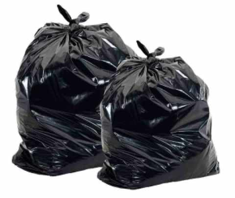Kids in foster care get two trash bags to carry their belongings.